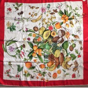 Mantero botanical silk scarf